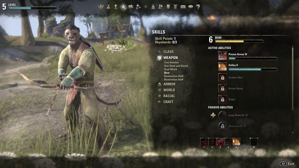 Elder Scrolls Online - Bow Skillset